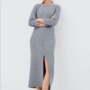 Zara Dress MIDI XS Plaid Houndstooth Long Sleeve